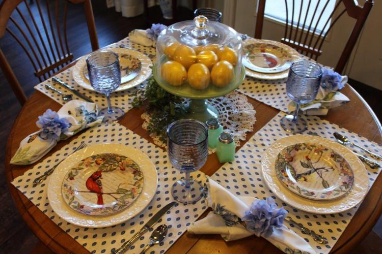Belle Bleu Interiors Sunday Brunch Tablescape 2