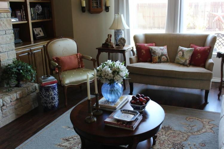 French Country Spring Living Room Tour
