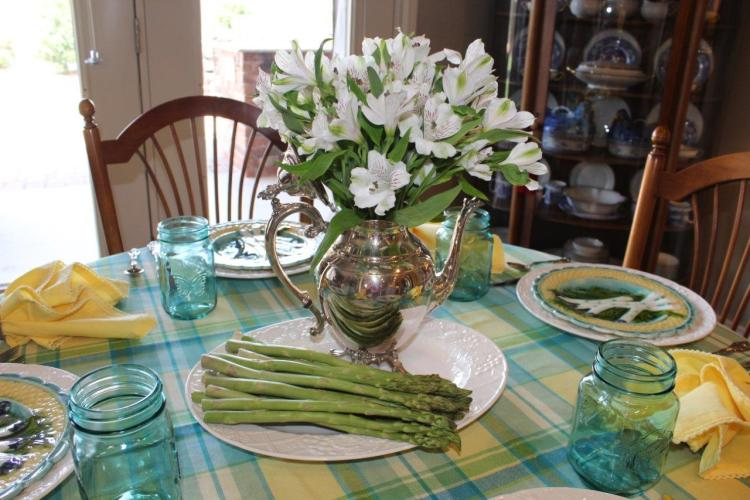 Tablescape Thursday The French Asparagus Plate Belle Bleu Interiors