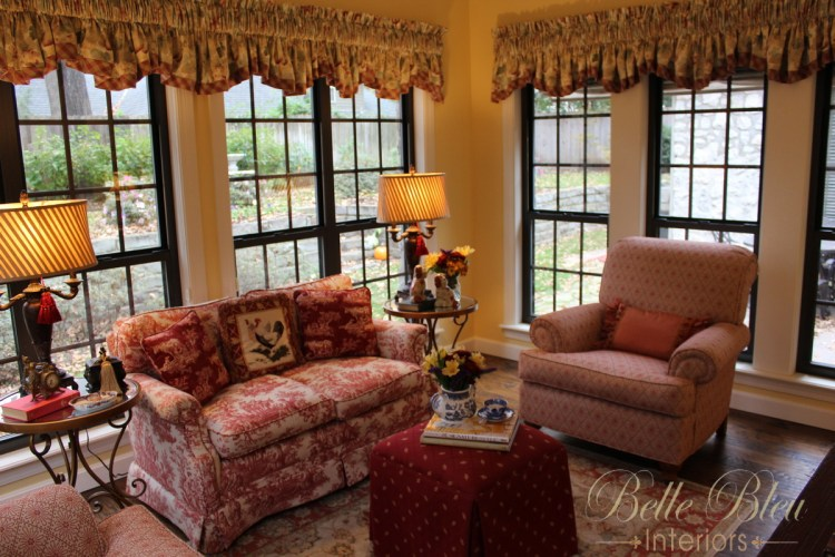 A Traditional French Country Sunroom