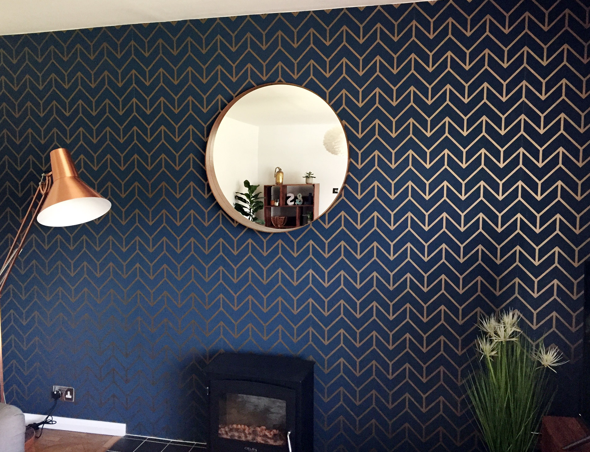 Living Room Feature Wallpaper Hitchin Belle Decorating