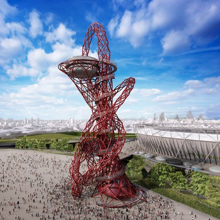The red Orbit tower - Olympics 2012
