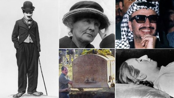 Ten people who have been exhumed