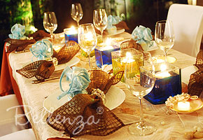 match brown for your wedding tables