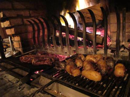 grill du Gron - T bone by the fireplace
