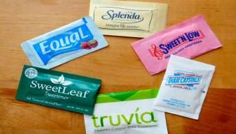 Sobres de sustitutos de azúcar