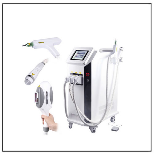 IPL ND Yag Laser RF 3 in 1 Multifunction Beauty Equipment