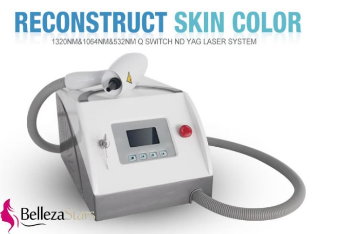 Laser q switch nd yag machine tattoo pigment removal