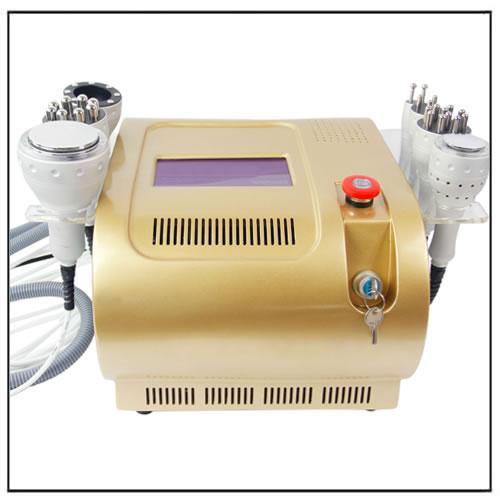 Golden 7in1 Cavitation Ultrasonic Vacuum Cold RF Bipolar Multipolar Photon Beauty Machine