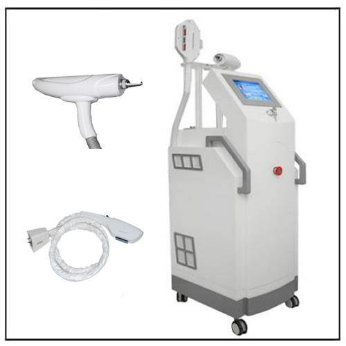 SHR RF ND YAG Laser Tattoo and Hair Removal Equipment