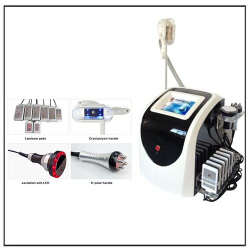 Multifunctional Cryolipolysis Cavitation RF Lipo Laser Equipment