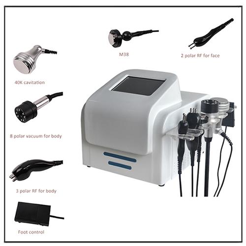 5 in 1 Cavitation RF Vacuum Roller Velashape Slimming Machine