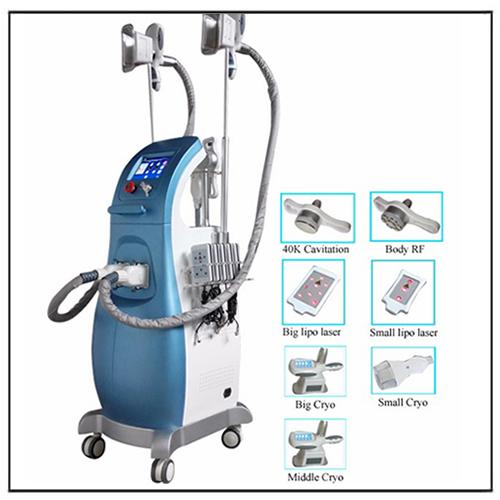 Cryo + Laser + RF + Cavitation + Vacuum Cryo Lipolysis Device