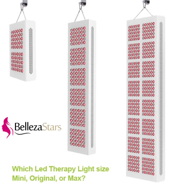 LED Therapy Lights Size Specification