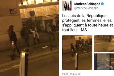 Marlène Schiappa marche 5 minutes à Pajol sans se faire harceler et réclame une médaille