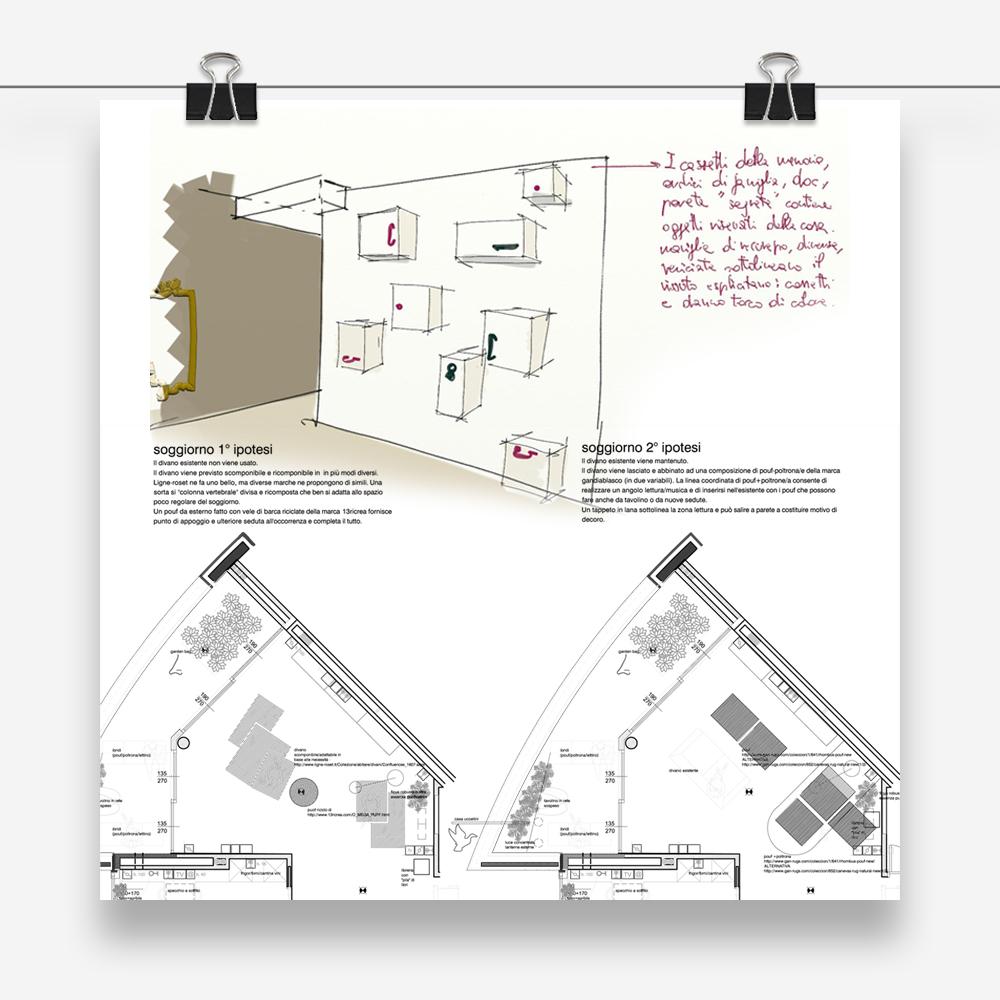 finally at home per casa pm: progetto d'interior per la realizzazione di un nuova abitazione unifamiliare a Sesto San Giovanni