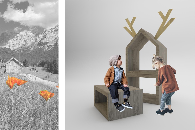 fiorme: progetto di design per il concorso Disegno Dilegno di Fiemme 3000