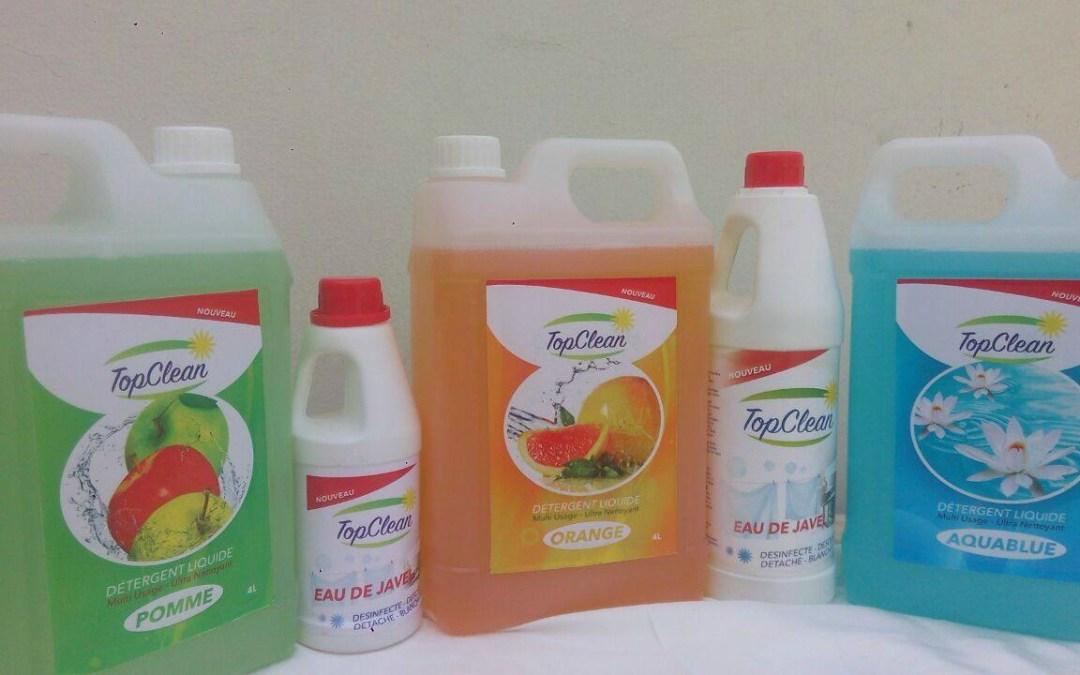Benin : La marque topclean de produits d'entretiens ménagers de la société LUMIÈRE enfin disponible