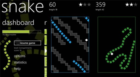Snake per Windows Phone