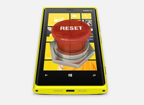Windows Phone hard reset