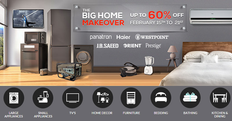 Up to 60% discounts on the best home decor brands and products on Daraz.pk