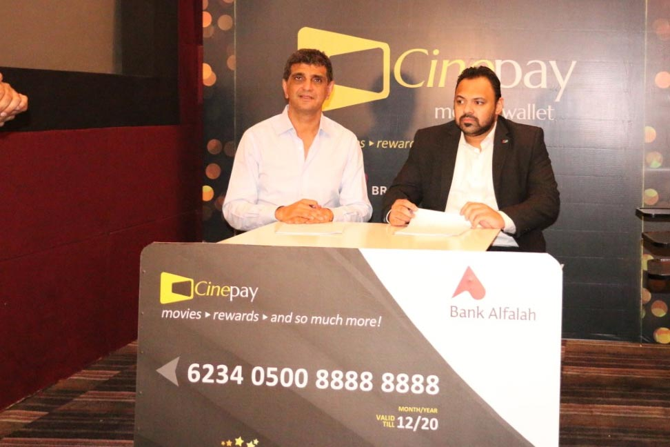 "Cinepax Cinemas launches 'Cinepay Reward & Payments Card"" in collaboration with UnionPay International & Bank Alfalah"