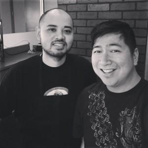 Chef Warren (left) and Chef Aris (Baker Cakemaker) repping LA!
