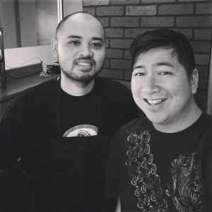 Chef Warren (left) and Chef Aris (Baker Cakemaker) repping LA!