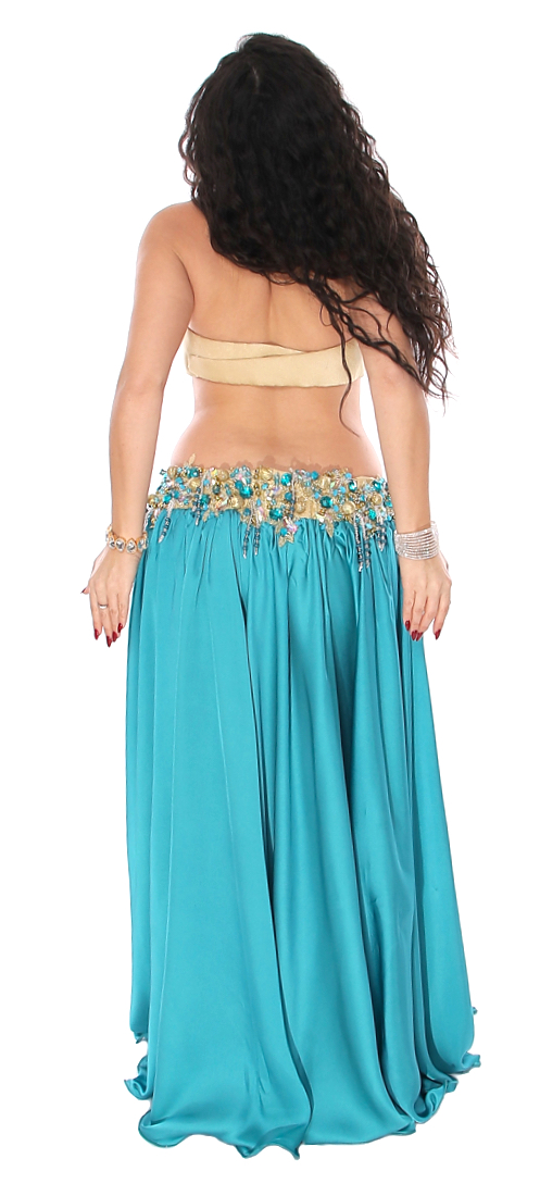 Teal Blue Professional Belly Dance Costume from Egypt at ...