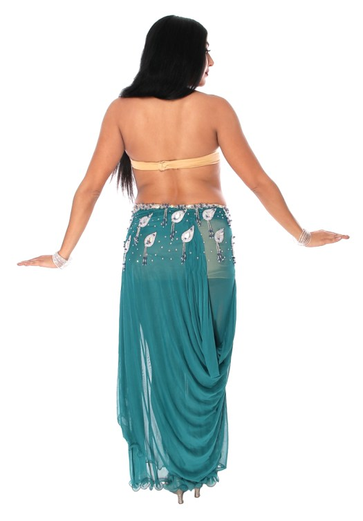 Professional Belly Dance Costume from Egypt in Teal Green ...