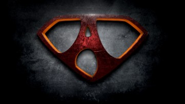 "The letter A in the style of ""Man of Steel"""