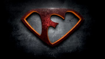 "The letter F in the style of ""Man of Steel"""