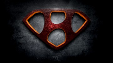 """The letter H in the style of """"Man of Steel"""""""