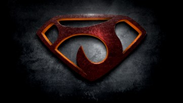 """The letter J in the style of """"Man of Steel"""""""