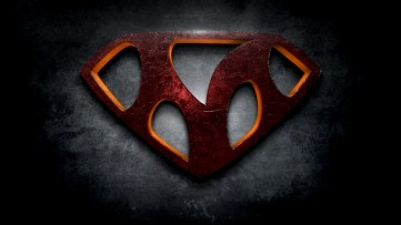 "The letter M in the style of ""Man of Steel"""