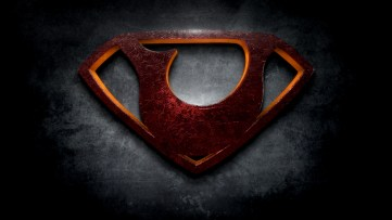 "The letter U in the style of ""Man of Steel"""