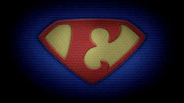 """The letter E in the style of """"Man of Steel"""" - color texture version"""