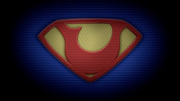 "The letter U in the style of ""Man of Steel"" - color texture version"