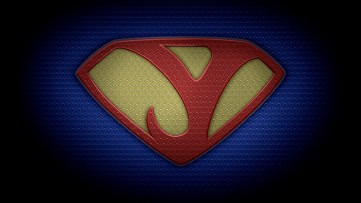 "The letter Y in the style of ""Man of Steel"" - color texture version"