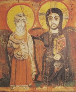 icon of Christ and the friend