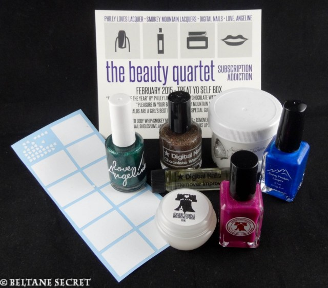 Treat Yo Self Box (February 2015) The Beauty Quartet