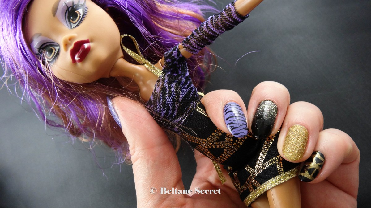 Nail Art Monster High Clawdeen Wolf