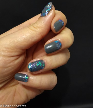 Nail Art Vitrail Glass Nails Manucurist Gris n1-5