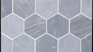 "Beltile Grey Bardiglio Marble Hexagon 4"" Honed 4"