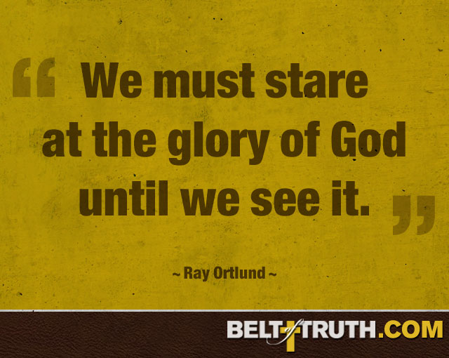 """""""We must stare at the glory of God until we see it."""" —Ray Ortlund"""