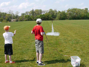 Launching-a-model-rocket
