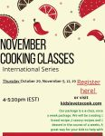 Kid's Cocina virtual cooking classes