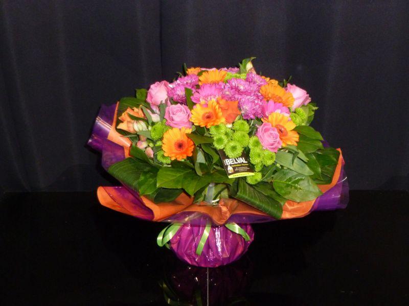 Bouquet rond coloré MAËLLE
