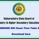 Maharashtra Board Class 10th SSC Exams Time Table 2016 Released