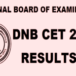 DNB CET 2016 Result Declared Check Merit List Now